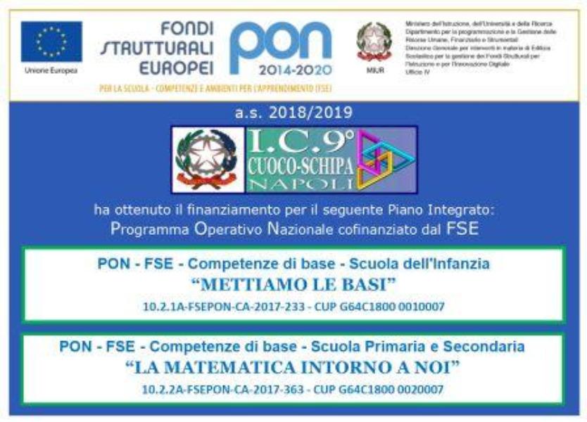 PON - FSE COMPETENZE DI BASE 2018-19