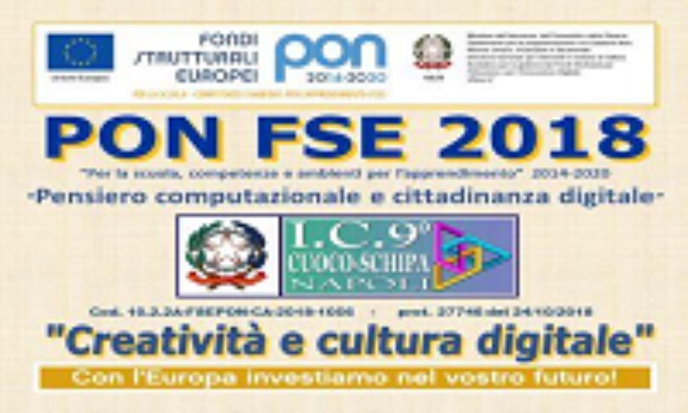 PON FSE - 2018-19 - Creatività e cultura digitale
